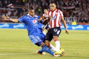 Roman Torreo en el partido Millonarios vs Junior