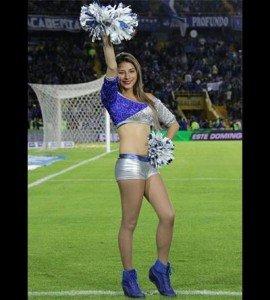 Yesica Trujillo porrista de Millonarios