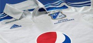 Nueva camiseta blanca de visitante de Millonarios