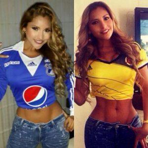 Hincha Azul apoyando la Seleccion Colombia