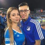 Hinchas azules en el estadio