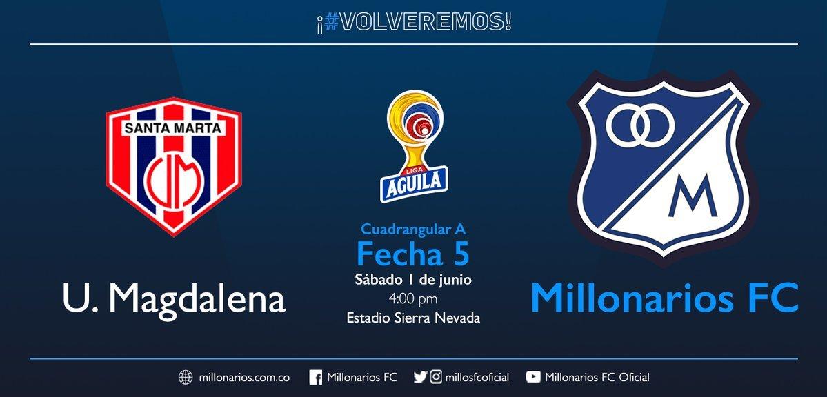 Unión Magdalena vs Millonarios FC